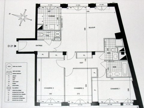 plan grand appartement