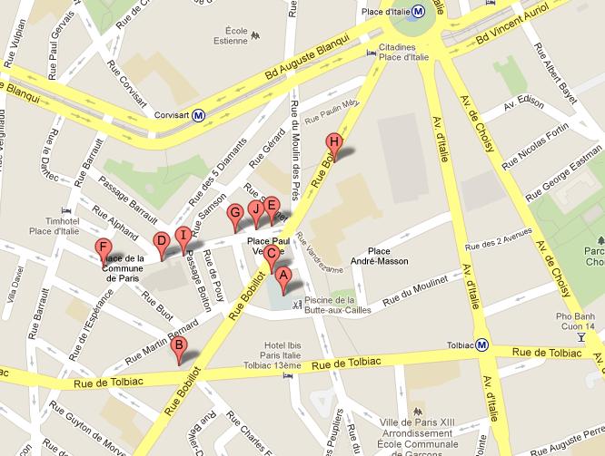 Promenade dans le quartier de la butte aux cailles paris - Restaurant butte aux cailles ...