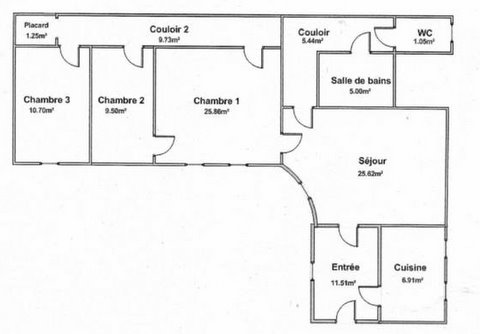 plan d appartement 70 m2
