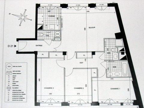 plan d'un appartement de 100m2